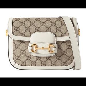 Gucci White Leather-trimmed Printed Coated-canvas